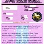 Indiana License to Carry Handgun