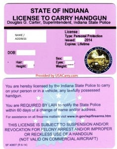 Indiana License to Carry Handgun