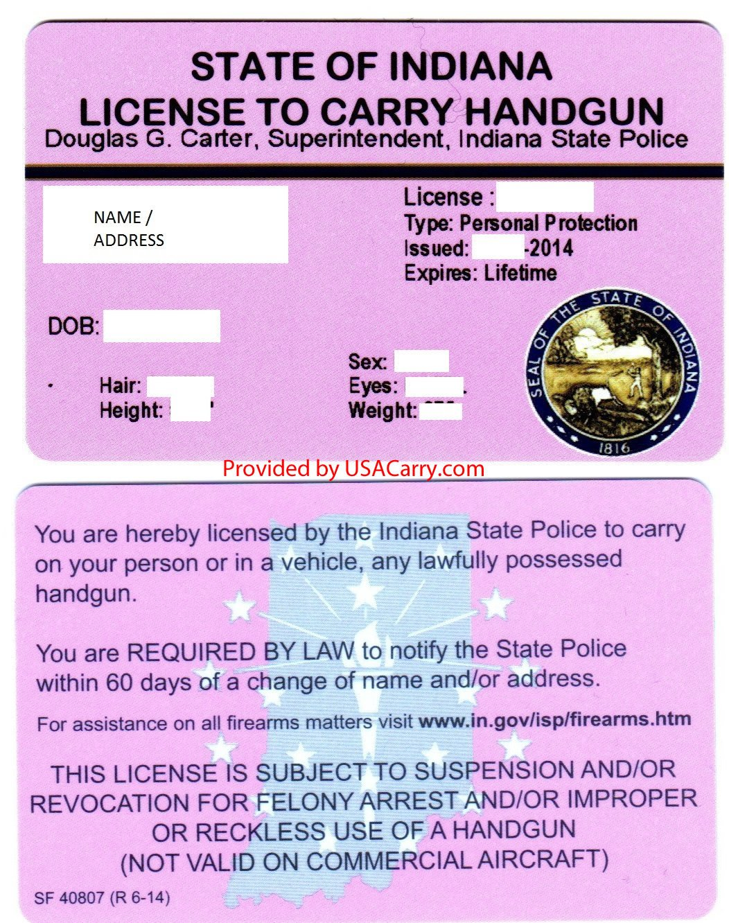 Indiana concealed carry permit information for Fishing license indiana