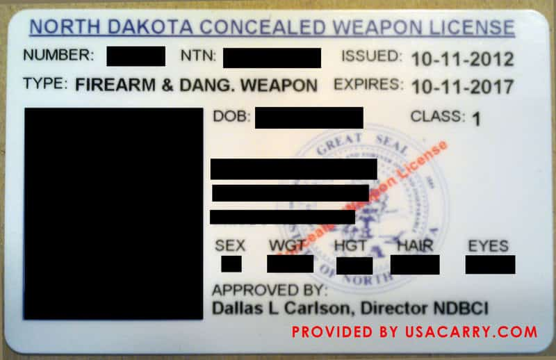 North Dakota Concealed Weapon License