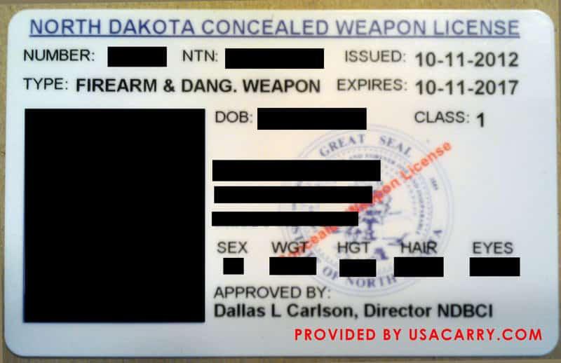 North Dakota Concealed Weapon License