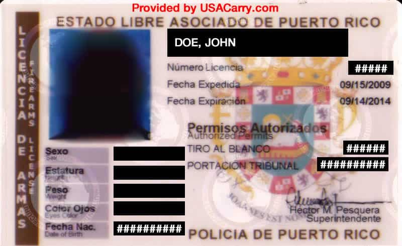 Puerto Rico Concealed Carry Permit Information