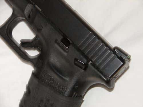 Glock 22 with Glock Manual Safety Kit MSK Installed