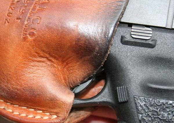 Man's Leather Holster Causes Accidental Discharge