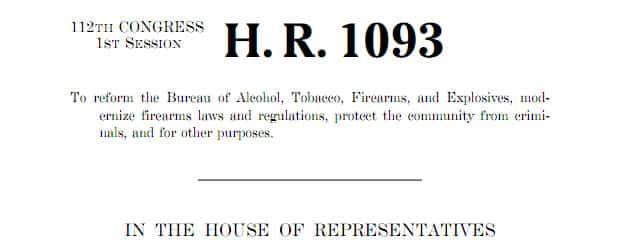 HR 1093 BATFE Reform Act of 2011