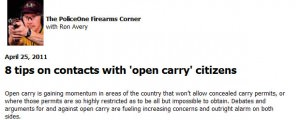Police Perspective on Open Carry