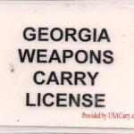 Georgia Concealed Carry Permit Back