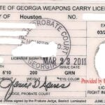 Georgia Concealed Carry Permit Front