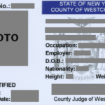 New York Concealed Carry Permit Front (Westchester County)