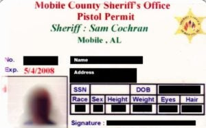 Alabama Pistol Permit
