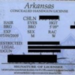 Arkansas Concealed Carry Permit (old)