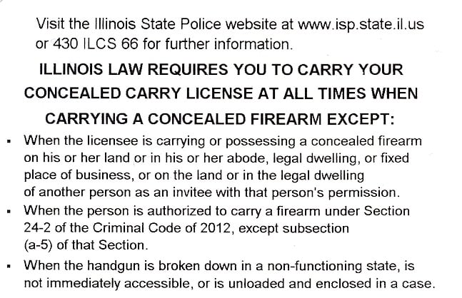 Illinois Concealed Carry Permit Information