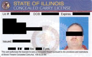 Illinois Concealed Carry Permit License Front