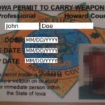 Iowa Concealed Carry Permit Example Front