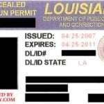Louisiana Concealed Carry Permit Front