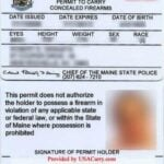 Maine Concealed Carry Permit