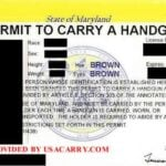 Maryland Concealed Carry Permit Front