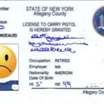 New York Concealed Carry Permit Front