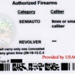 New Mexico Concealed Carry Permit Back