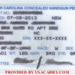 North Carolina Concealed Carry Permit Front