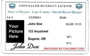 Oregon Concealed Carry Permit