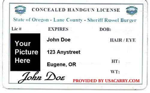 Oregon Concealed Carry Permit Information
