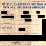 Rhode Island Concealed Carry Permit Back