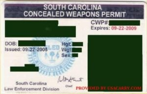 South Carolina Concealed Weapons Permit