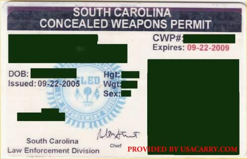 South Carolina Concealed Carry Permit Information