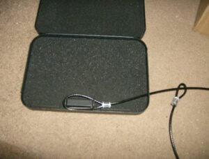Fig. 4- Secure It Security Box & Cable