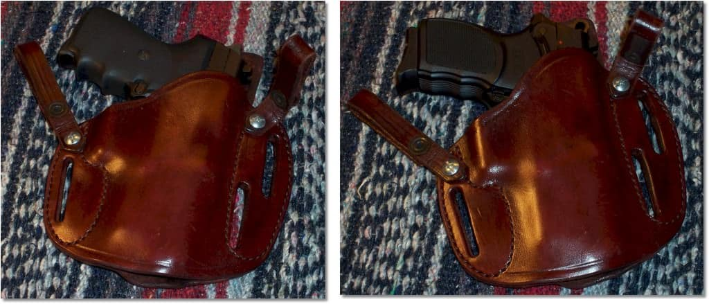 The SIG P239 and Bersa 9UC can both reside nicely in the Simply Rugged holster intended for a Springfield XD