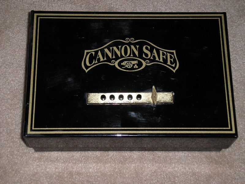 Cannon Safe opens from the top and can be bolted to the floor or to a wall.