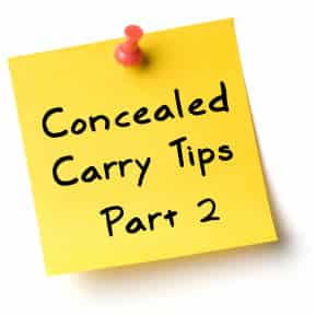 Concealed Carry Tips - Part 2