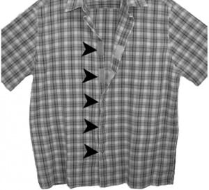 Velcro Concealed Carry Shirt