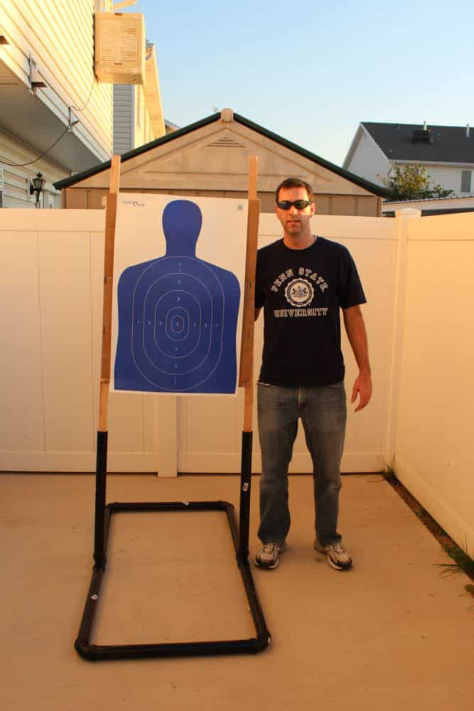 Shooting Target Stand Designs : Low cost diy portable target stand usa carry