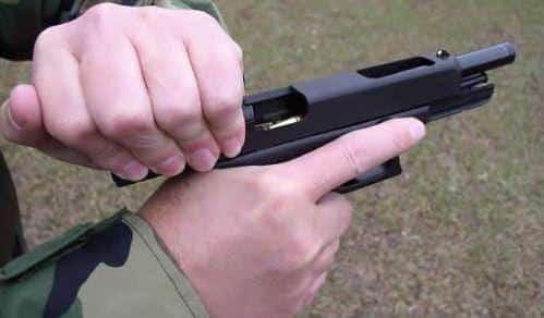 Racking the Pistol Slide: Technique Not Strength