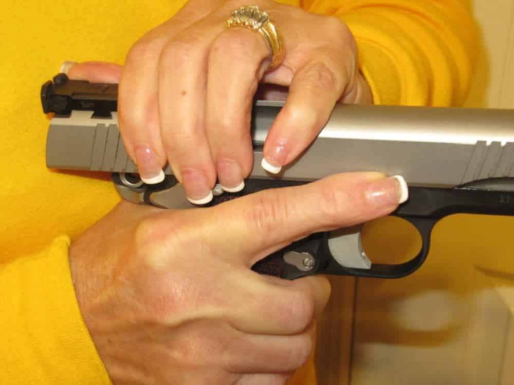 Racking the Pistol Slide: Technique Not Strength