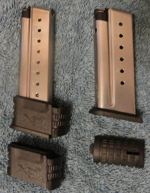 Standard 7 & Extended 9 Mags- with Small Backstrap and Mag Sleeve