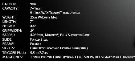 4-XDS 4.0-- SPECS from Website