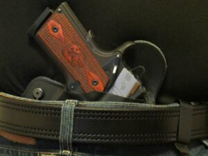 "Double Layered- Double-Stitched 1/4"" Thick, Stiff, and Comfortable Gun Belt"