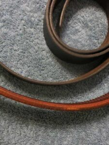 Comparison of Thin Casual Belt to Thick Gun Belt