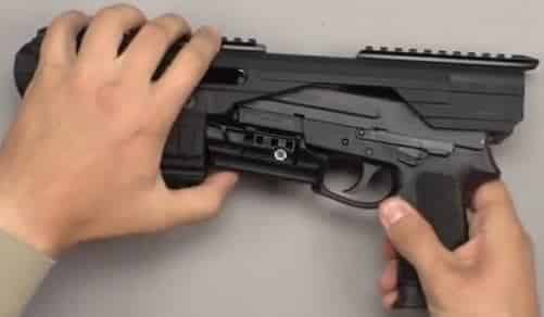 2-Slide Pistol into Adaptive Clamp Assembly