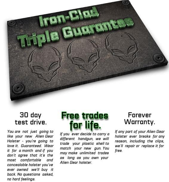 Alien Gear Iron-Clad Triple Guarantee