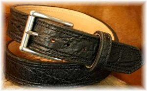 Exotic Leather Gun Belt Offered by Some Manufacturers- up to $260