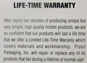 Mag-Jic Magnetic Paddle Holster Lifetime Warranty