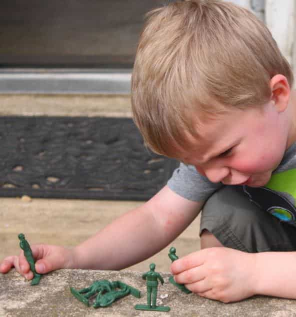 "Most Young Boys Love to Play ""Army"" with Toy Guns"