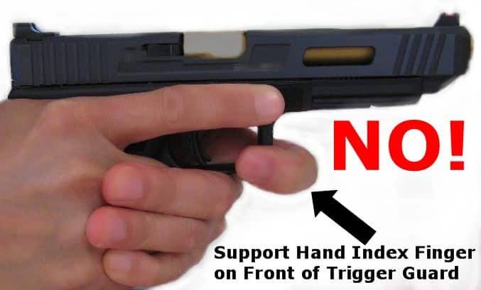 Support Index Finger on Front of Trigger Guard