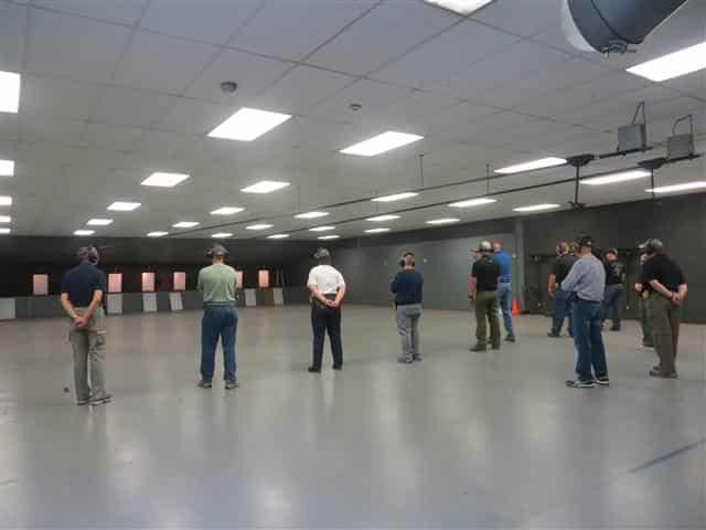 Students Shooting at 25 Yards in Practical Handgun Skills Course 102