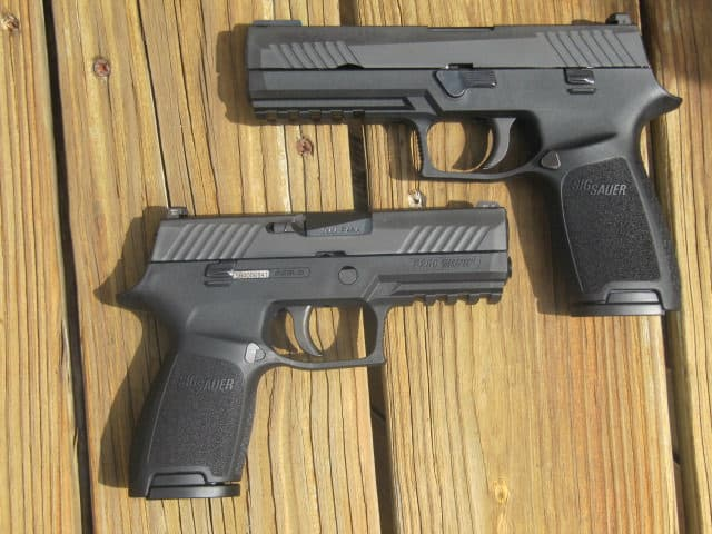 Sig P320 Full Size (top) and Sig P320 Carry (bottom)