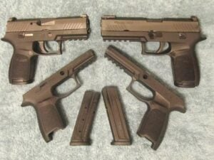 Sig P320 Compact & Sig 320 Full Size 9mm Pistols with Modular Grip Frames & Metal Mags